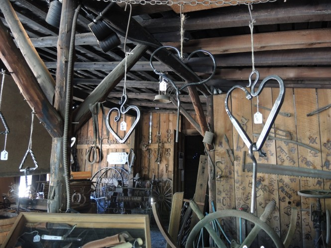 Hearts at the Blacksmith shop in Columbia, Ca